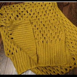 3/$15 Fall Soft Mustard Yellow ascarf
